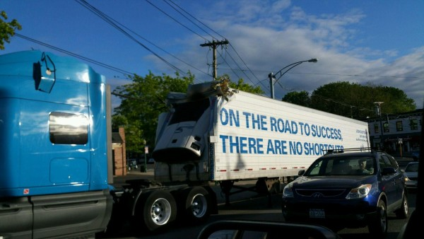 truck under mamk ave bridge
